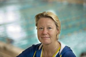 Förbundskaptenen Ulrika Sandmark.