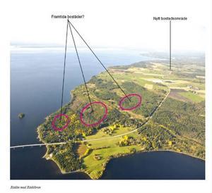 Att bygga bostäder på Rödön, alldeles intill Rödöbron, är något som diskuteras i översiktsplanen.