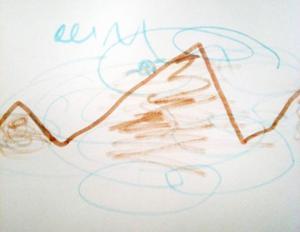 Så här tolkar Sigge Öhrnell, 5 år, stormen Ivar.