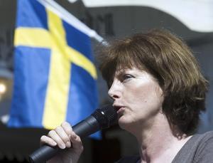 Nationaldagstal. Utrikeskorrespondent Eva Elmsäter höll högtidstal dagen till ära och talade bland annat om Smedjebacken som