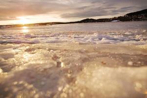 Blaskig isväg.Foto: ulrika Andersson