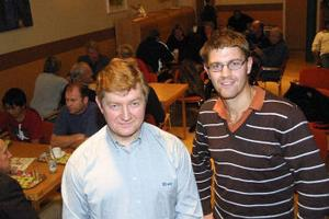 Torbjörn och Tomas Jonsson berättade proffsigt om företagets enorma expansion. Det blev tre omgångar med applåder.