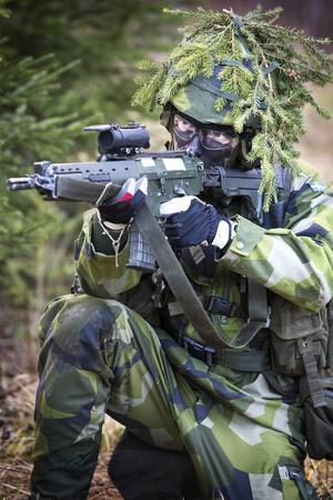 Skjutövning i Dagsådalen.
