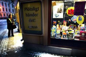 Här på Lindhska Bokhandeln i Örebro lämnades lottoraden in i fredags.