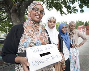 Leila Hassan, Nimo Hassan, Halima Ali och Fatha Mohamed har i veckan fått gävleborna att engagera sig för svältkatastrofen på Afrikas horn.