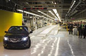 Nygammalt i Trollhättan. Serietillverkningen av Saab 9-3 Aero Sedan inleddes i början av december.Foto: Björn Larsson Rosvall/TT