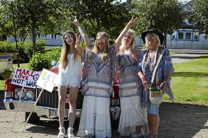 Ett gäng hippier som deltog i Ladies run förra sommaren.