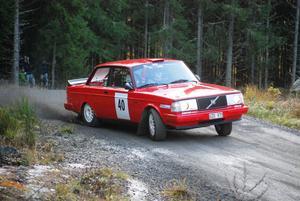 """Pär Swedh tog silver i nedre norras förbundsmästerskap samt en fjärdeplats totalt i """"RYM"""". Här i full fart på den första sträckan.FOTO: KURT ELIASSON"""