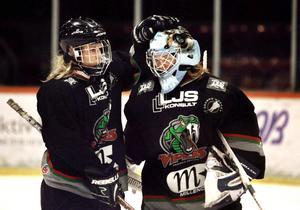 Jenni Asserholt och Sara Grahn när de representerade Örebro.