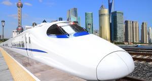 Höghastighetståg i Shanghai. Nu ska en ny linje öppna också mellan Beijing och Kanton.