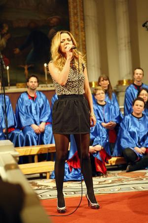 Anna Sahlin gjorde rollen som Maria Magdalena i Färila församlings konsertvariant av Jesus Christ Superstar.