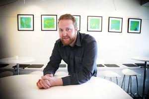 Jimmy Dahlberg med sin serie