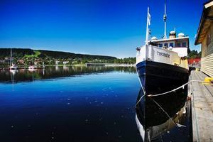 Thomée kommer att stå kvar vid land, men inte som här i hamnen i Östersund. Ångaren är fortsatt förtöjd i Arvesund i väntan på åtgärder och nya ägare.