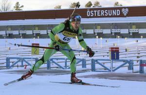 Simon Hallström tog den sista platsen i herrlaget till Östersunds VC-tävlingar i veckan.