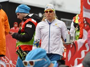 Hanna Falk, Ulricehamn, hade redan innan sagt att hon inte skulle fortsätta efter onsdagens masstart.
