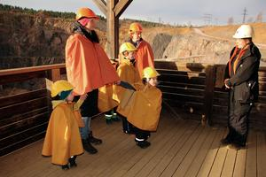 Höstlovets första visning av Falu gruva. Den börjar vid Stora Stöten.