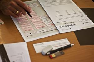 De som skrev högskoleprovet fick sitt resultat måndag 13 maj. Arkivbild: Yvonne Åsell/TT