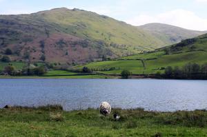 William Wordsworths landskap, här vandrade poeten under större delen av sitt liv. På bilden – Brothers water.