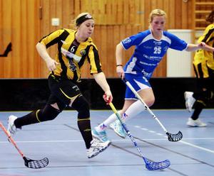 Klockarberget fick igång sina anfall så småningom och Malin Frändén gjorde ett av lagets två mål.