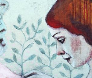Programbladet för Årets Gästrik Konst visar måleri av deltagande konstnären Elin Folkesson.