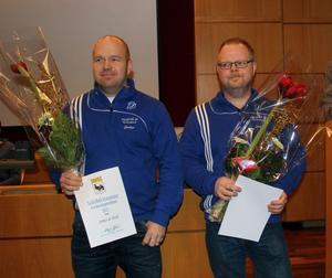 Bröderna Jerker de Wall och Stefan Sjödin får årets ledarstipendium i Sollefteå.