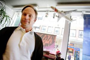 Johan Lundkvist på Resia tror att folk är desperata för att det är så dåligt väder på hemmaplan. Foto: Ulrika Andersson