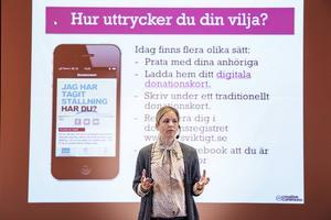 Martha Ehlin är en av initiativtagarna till MOD, Merorgandonation. På deras hemsida går det att ladda ner ett digitalt donationskort.