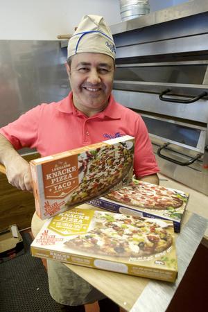 Nordiska pizzamästaren Josef Hakimi har utvecklat recepten med äkta varor.