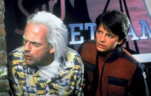 Christopher Lloyd och Michael J Fox i