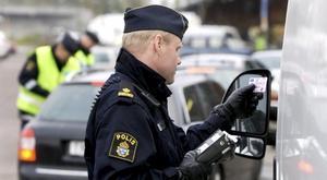 Polisen genomför nykterhetskontroll vid ett tidigare tillfälle.
