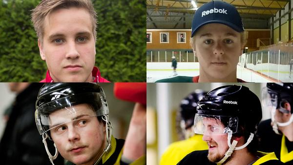 Oliver Nordmark, Jesper Mattson, Samuel Blücher och Sebastian Varjomaa.