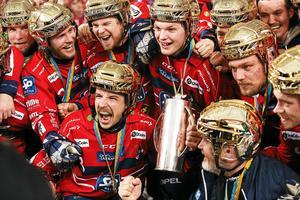 Så här såg det ut på Tele 2 Arena i mars när Edsbyn slagit Bollnäs med 3–1 i SM-finalen.