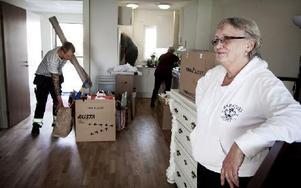– Jag har stått i kö tre år för en lägenhet i centrum, berättar Barbro Romlin. Foto: Peter Ohlsson/DT