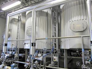 Rötningsprocessen i en biogasanläggning i Lidköping.