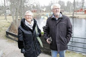Leif Wennberg tog med sin mamma Kerstin Wennberg på en konstrunda i Högbo.