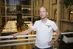 Johan Nordvall är glad över att vara tillbaka i Sundsvall.