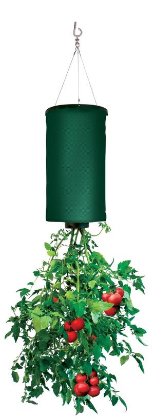 Odlingsväska för tomaterna. Den här varianten av upp-och-ner-kruka kostar 249 kronor i webbutiken Smartasaker.se. Foto: Smartasaker.se