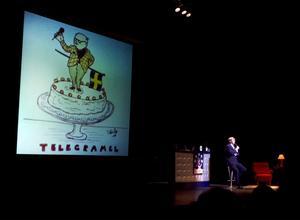 Telegramel. På Povels 70-årsdag varBosse Parnevik ett självklart val som underhållare.