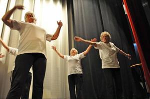 Gunhild Näsholm och Astrid Hafeldt tar ut rörelserna ordentligt till musiken.