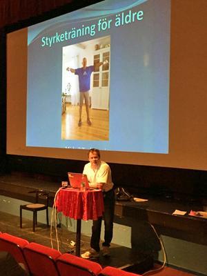 Michail Tonkonogi föreläste om styrketräning för äldre på Folkets hus i Säter.