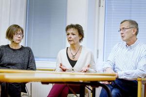 Dagkirurgin får bättre förutsättningar i Gävle, anser Elsa Hansson, vårdenhetschef, Ewa Åsenlund, operationssjuksköterska, och Gunnar Morin, medicinskt ansvarig läkare.