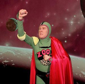 Kapten Zoom.  Anders Linder kom till jorden från rymden.