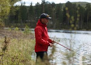 Martin Södergårds tycker att Ljusnan inne i Sveg är en bortglömd fiskesträcka.
