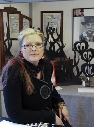 Anja Tellin har deltagit i konstrundan Öppen Ateljé ett par gånger tidigare, och visade bland annat upp sina spännande metallskulpturer.