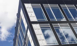 Den omstridda fasaden.