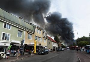 Brand i Fyndlagret.
