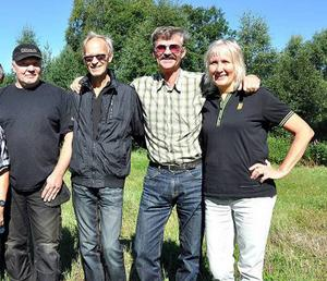 Ingemar Hägglund, Mats Lööw, Johnny Torvaldsson och Carin Österström är några av eldsjälarna bakom Sörbergedagen.