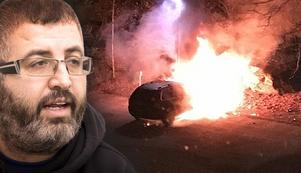 Khaled El Awad, ordförande för Råbymoskén, har fått sin bil uppbränd.