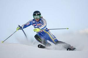 Kajsa Kling vid en världscuptävling hemma i Åre för några år sedan. Den här säsongen gästar världscupcirkusen Åre 7–8 mars då det väntar storslalom och slalom.Arkivbild: Denny Calvo