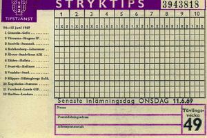På stryktipset den 14-15 juni 1969 fanns både Älvros och Vemhån med. Vemhån fanns även med på en omgång när man spelade emot Sundsvall.
